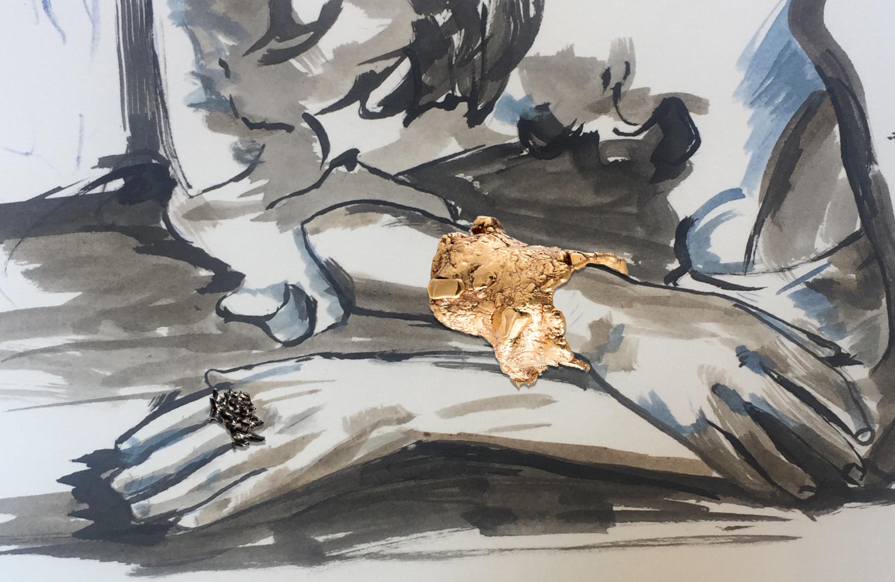 2- Liliane Lijn Magna ; Rebecca Horn Shell (Conch)