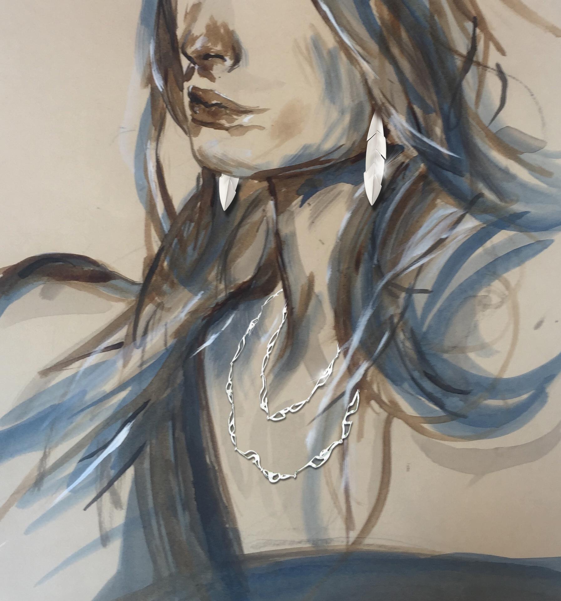 21- Alba Polenghi Lisca Moorea necklace, Tagli earrings